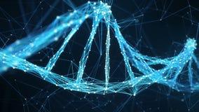 Abstrakter Bewegungs-Hintergrund - Digital-Plexus DNA-Molekül 4k Schleife stock footage