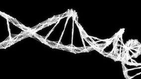Abstrakter Bewegungs-Hintergrund - Digital-Plexus DNA-Molekül 4k Schleife Alpha Matte stock video