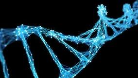 Abstrakter Bewegungs-Hintergrund - Digital-Plexus DNA-Molekül 4k Schleife Alpha Matte stock video footage