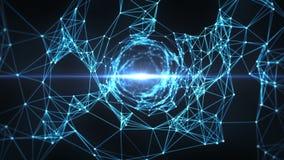 Abstrakter Bewegungs-Hintergrund - Digital-Plexus-Trichter-Schleife stock video footage