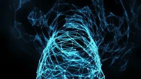 Abstrakter Bewegungs-Hintergrund - Digital-Plexus-Trichter-Schleife stock abbildung