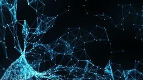 Abstrakter Bewegungs-Hintergrund - Digital-Plexus-Trichter-Schleife vektor abbildung