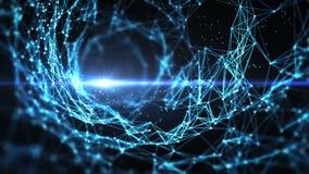 Abstrakter Bewegungs-Hintergrund - Digital-Plexus-Trichter-Strudel-Schleife stock abbildung