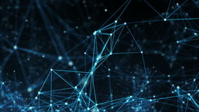 Abstrakter Bewegungs-Hintergrund - Digitale Datennetz-Schleife stock video