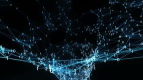 Abstrakter Bewegungs-Hintergrund - Plexus-Trichter-Schleife Digital binäre stock abbildung