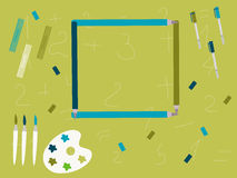 Abstrakter Bildungsbleistift und -briefpapier Lizenzfreies Stockbild