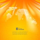 Abstrakter binär Code-Hintergrund mit Weltkarte Stockfotos