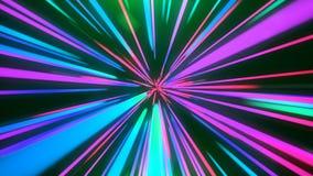 Abstrakter blau-rosa Sprung in der Zeit Stockfotografie