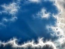 Abstrakter blau-weißer Hintergrund ?Himmel und Wolken? lizenzfreie abbildung