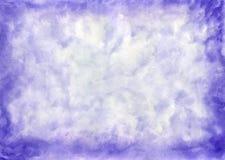Abstrakter blauer Aquarellhintergrund Lizenzfreie Stockfotos