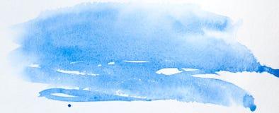 Abstrakter blauer Aquarellhintergrund stockfotos