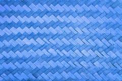 Abstrakter blauer Bambusbeschaffenheitshintergrund Stockfotografie