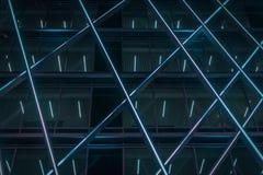 Abstrakter blauer Bau von Belgien stockfotos