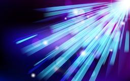 Abstrakter blauer Blendenflecktechnologiehintergrund. Stockbilder