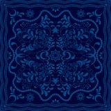 Abstrakter blauer Blumenhintergrund lizenzfreie abbildung