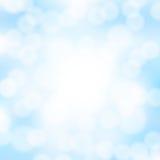 Abstrakter blauer bokeh Hintergrund Stockfotografie