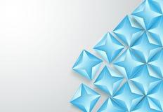 Abstrakter blauer Dreieckhintergrund Stockbild