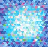 Abstrakter blauer dreieckiger Hintergrund Lizenzfreie Stockbilder