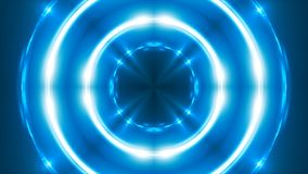 Abstrakter blauer Fractal beleuchtet, 3d übertragen Hintergrund, den Computer, der Hintergrund erzeugt Lizenzfreie Stockbilder