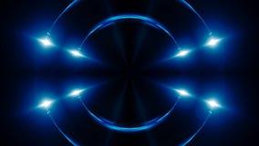 Abstrakter blauer Fractal beleuchtet, 3d übertragen Hintergrund, den Computer, der Hintergrund erzeugt Lizenzfreies Stockfoto