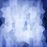 Abstrakter blauer geometrischer Musterhintergrund lizenzfreies stockfoto
