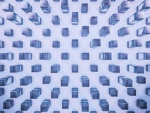 Abstrakter blauer Glashintergrund des Hexagons 3d Stockfotografie
