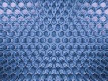Abstrakter blauer Glashintergrund des Hexagons 3d Lizenzfreies Stockbild