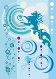 Abstrakter blauer Hintergrund Stockbild