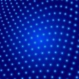 Abstrakter blauer Hintergrund eingeschlagene glühende Kreise Lizenzfreie Stockfotografie