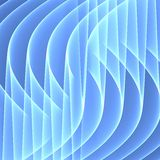 Abstrakter blauer Hintergrund Helle blaue Linien Geometrisches Muster in den blauen Farben Tiefrote Rotation Digital-Art Stockfotos