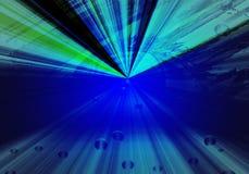 Abstrakter blauer Hintergrund mit Auge und Strahlen Lizenzfreie Stockfotos