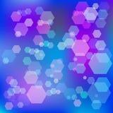 Abstrakter blauer Hintergrund mit bokeh raster Lizenzfreies Stockbild