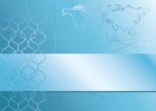 Abstrakter blauer Hintergrund mit Karte - ENV vektor abbildung