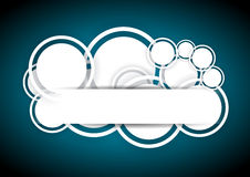 Abstrakter blauer Hintergrund mit Kreisen lizenzfreie abbildung