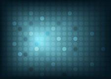 Abstrakter blauer Hintergrund mit Kreisen und breiter undeutlicher heller Stelle Lizenzfreies Stockbild