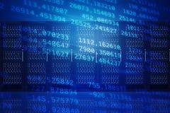 Abstrakter blauer Hintergrund mit Zahlen Lizenzfreie Stockfotos