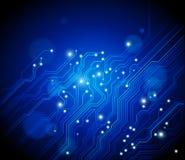 Abstrakter blauer Hintergrund - Technologie Lizenzfreies Stockfoto