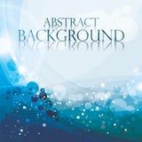Abstrakter blauer Hintergrund, Vektorillustration, aqu Lizenzfreie Stockfotos