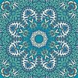 Abstrakter blauer Hintergrundschneeflockenrahmen Stockbilder