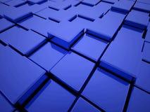 Abstrakter blauer Kasten Stockfotos