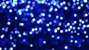 Abstrakter, blauer kreisrunder Hintergrund Blauer Schwarzer Schuh für Hintergrund stock video footage
