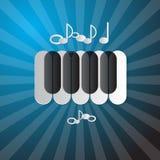 Abstrakter blauer Musik-Hintergrund Stockbild