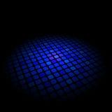 Abstrakter blauer Muster ob Schwarzhintergrund Lizenzfreie Stockbilder