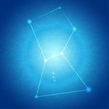 Abstrakter blauer Orion auf Verwicklungs-Linie Hintergrund lizenzfreie abbildung