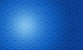 Abstrakter blauer Pentagonhintergrund Stockfotos