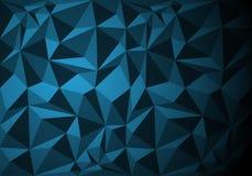 Abstrakter blauer Polygonmusterhintergrund-Beschaffenheitsvektor Stockfotos