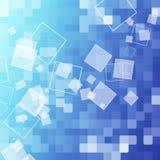 Abstrakter blauer quadratischer Hintergrund Lizenzfreies Stockbild