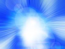 Abstrakter blauer radialhintergrund Stockbild