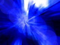 Abstrakter blauer radialhintergrund Stockfotografie