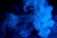 Abstrakter blauer Rauch Weipa lizenzfreies stockfoto